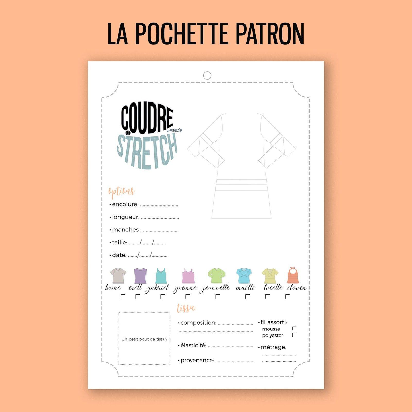 Pochette Marie Livre Le Stretch Coudre De Poisson Du Patron m0wOvNn8