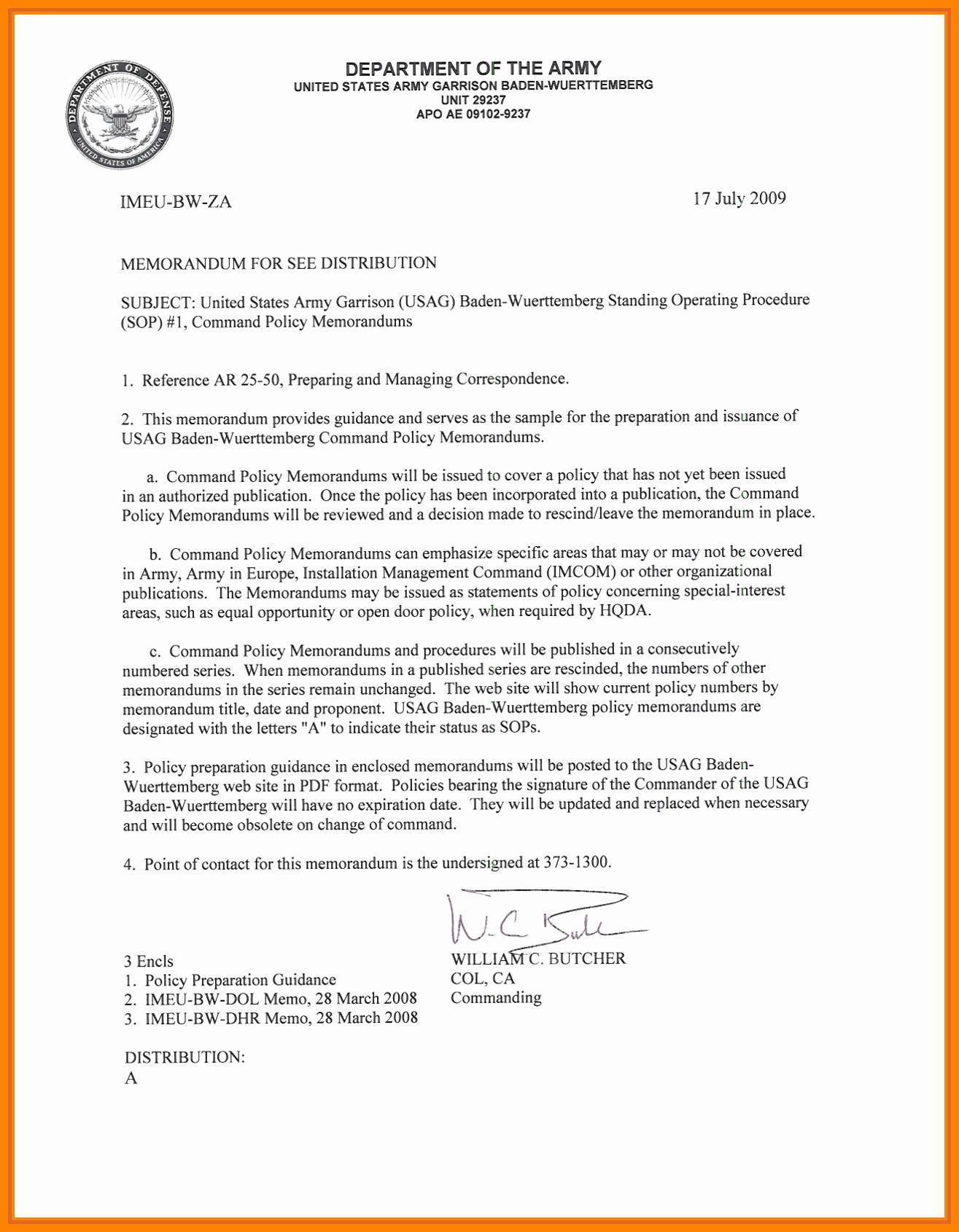 Army Memorandum for Record Template Luxury 28 Memorandum Of Record