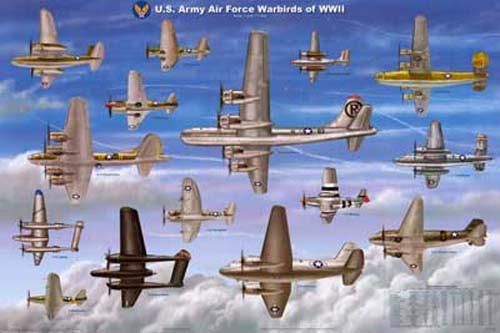 Wwii Fighter Planes Poster 24x36 Wwii Fighter Planes Wwii Airplane Wwii Plane