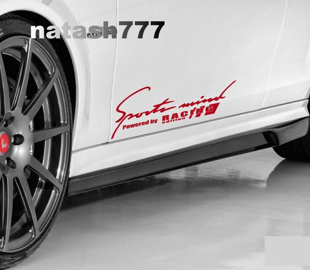 Sports Mind Powered By Racing Edition Car Vinyl Decal Sticker Red Car Decals Vinyl Logo Sticker Vinyl Decal Stickers [ 870 x 1000 Pixel ]
