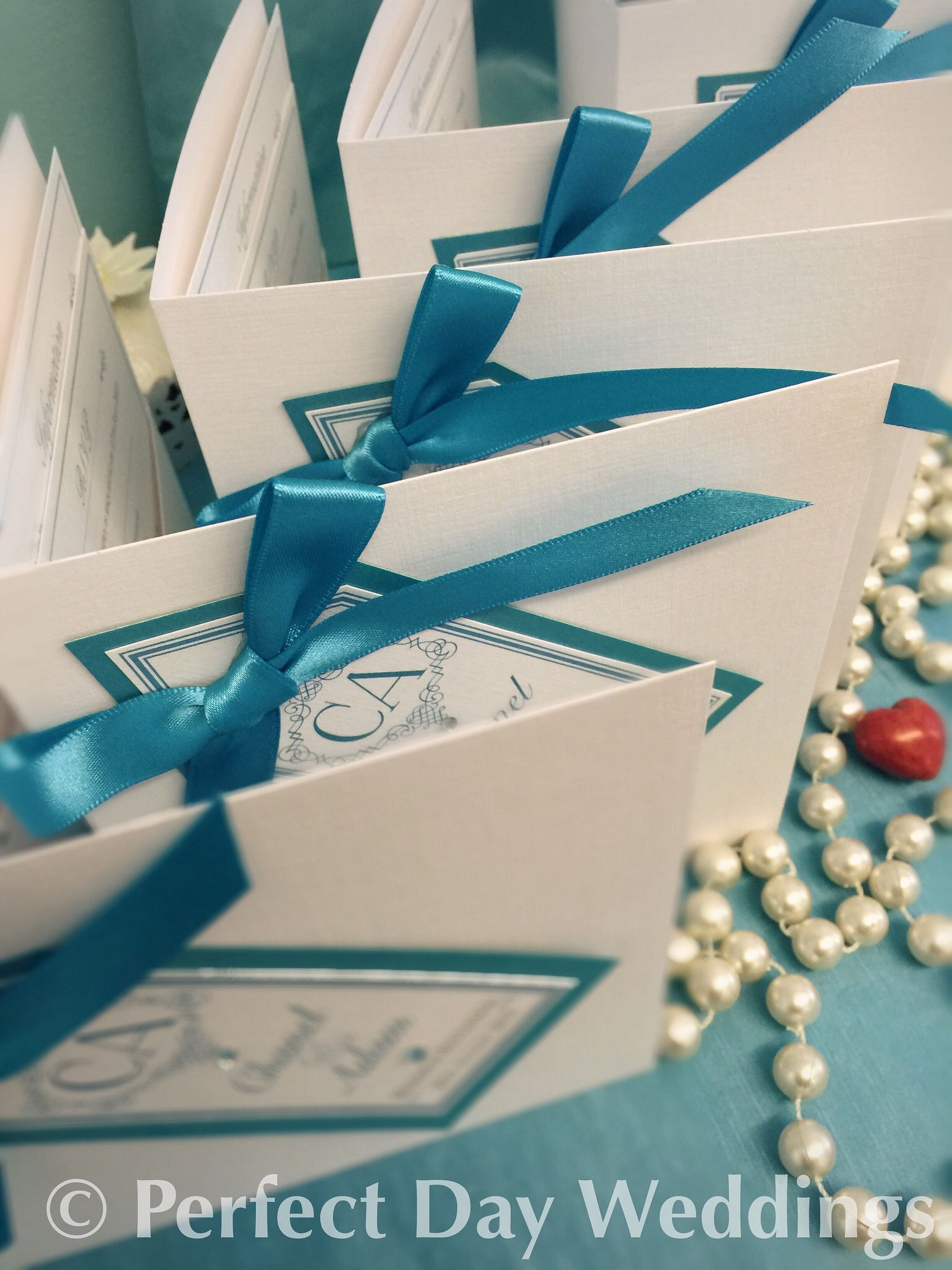 Bows & Beautiful Bookfold wedding invitations. Handmade bespoke ...