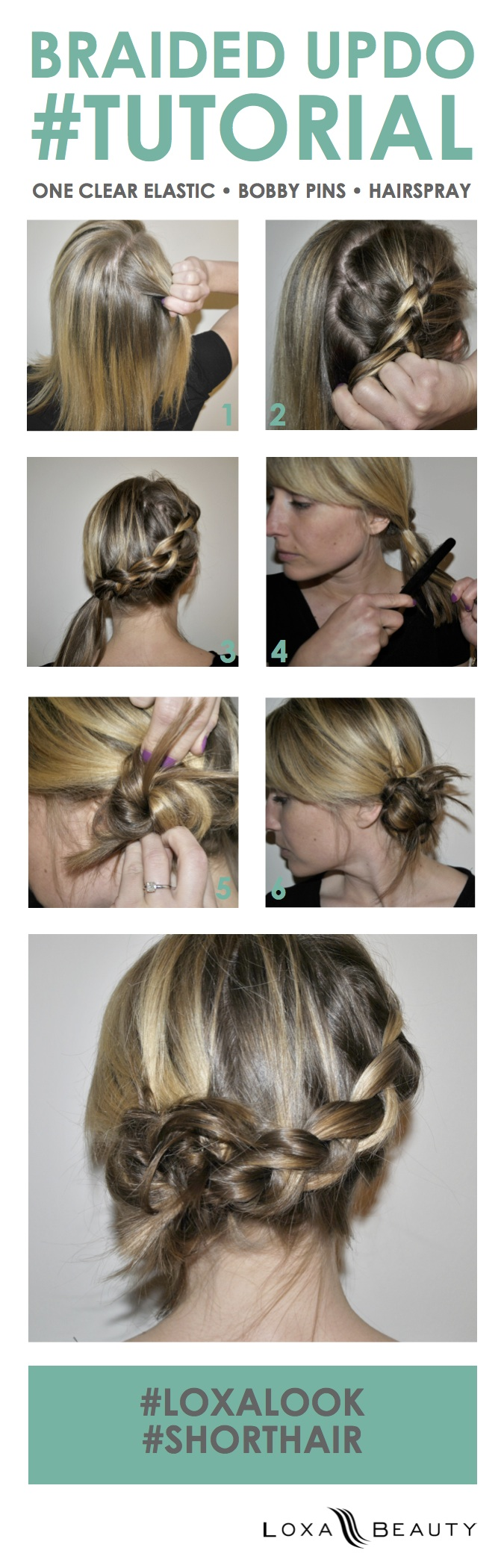 Braid Updo Tutorial For Short Hair The Layer Short Hair Tutorial Braid Updo Tutorial Braids For Short Hair