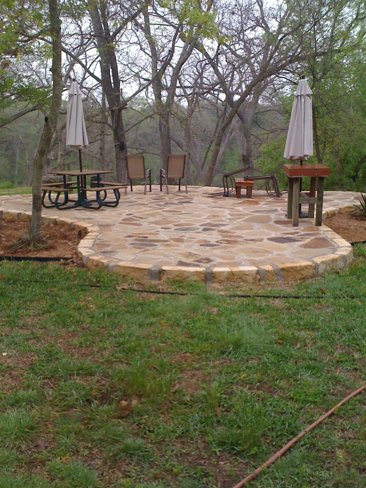 Flagstone patio that I want and neighbor has