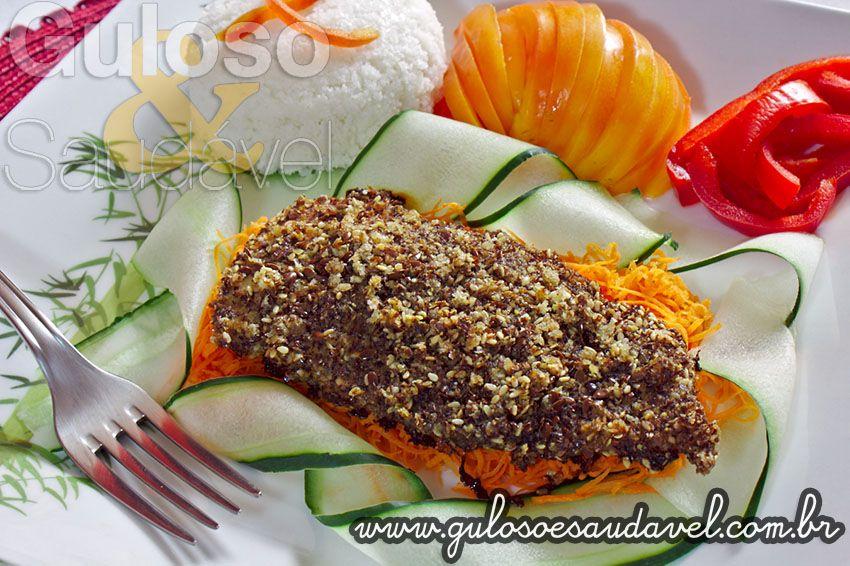 Receita de Filé de Frango com Crosta de Linhaça