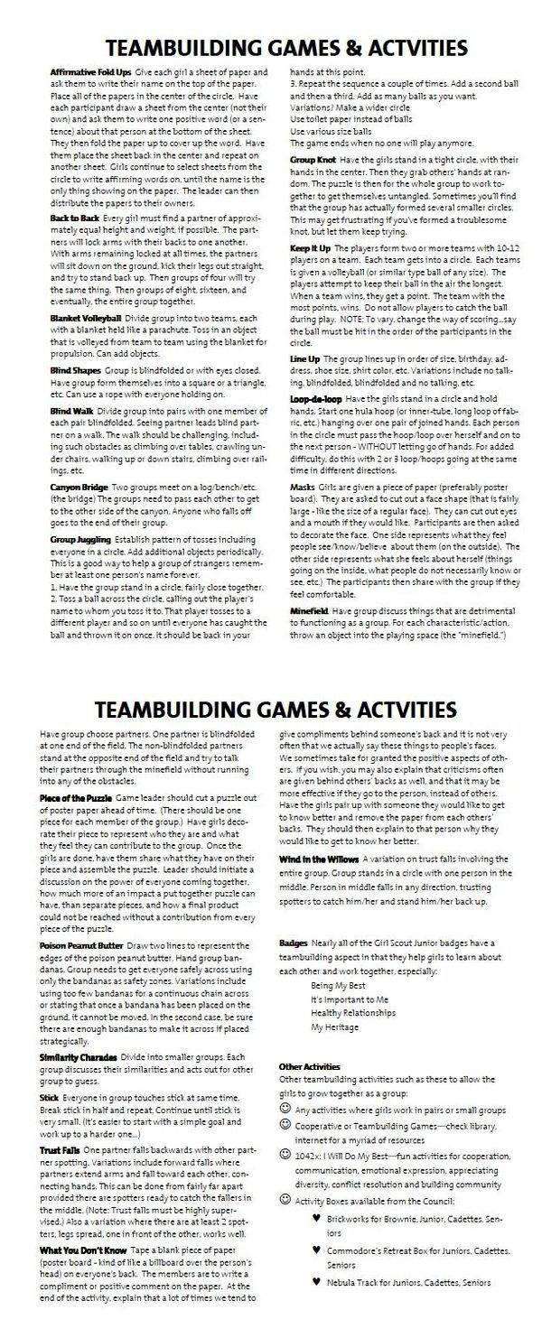 Team Building Activities For Students