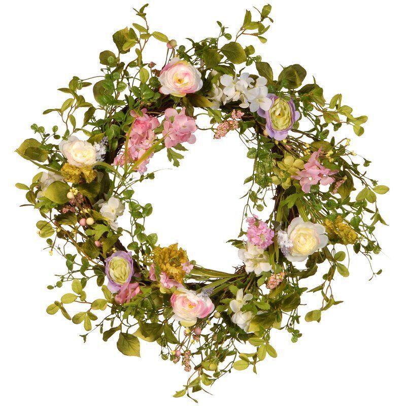 24 Spring Wreath Artificial Christmas Wreaths Spring Wreath Diy Spring Wreath