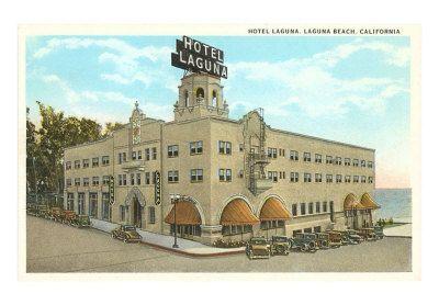 Classic Hotel Laguna Postcard Laguna Beach Ca Laguna Beach Laguna Beach California Laguna