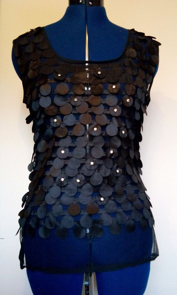 Black Sheer Top See Through Tank Flutter by EbyEvelynDesigns