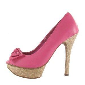 sapatos via marte 2012 peep toe pink