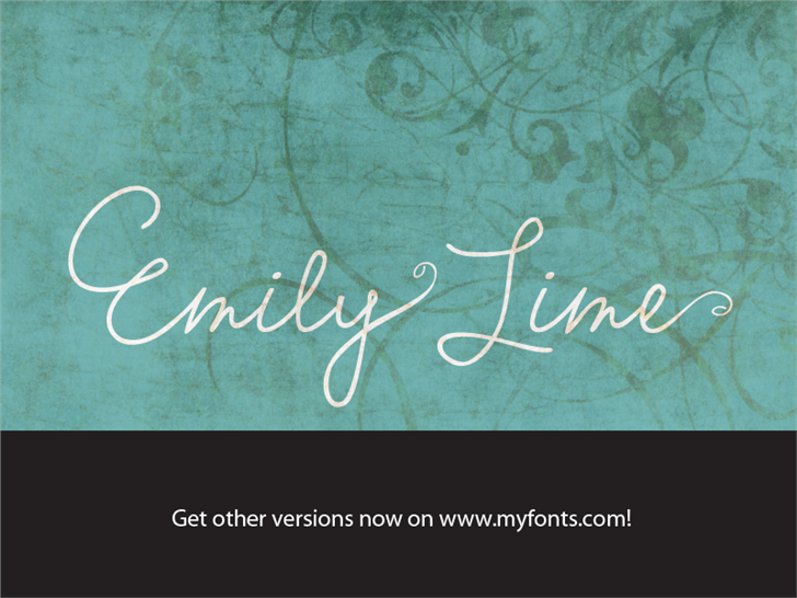 Emily Lime Words font by Emily Lime Design - FontSpace