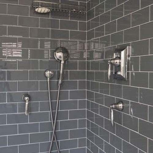 Sample 10 X 20 Gloss Dark Grey Brick Grey Bathroom Tilesgrey
