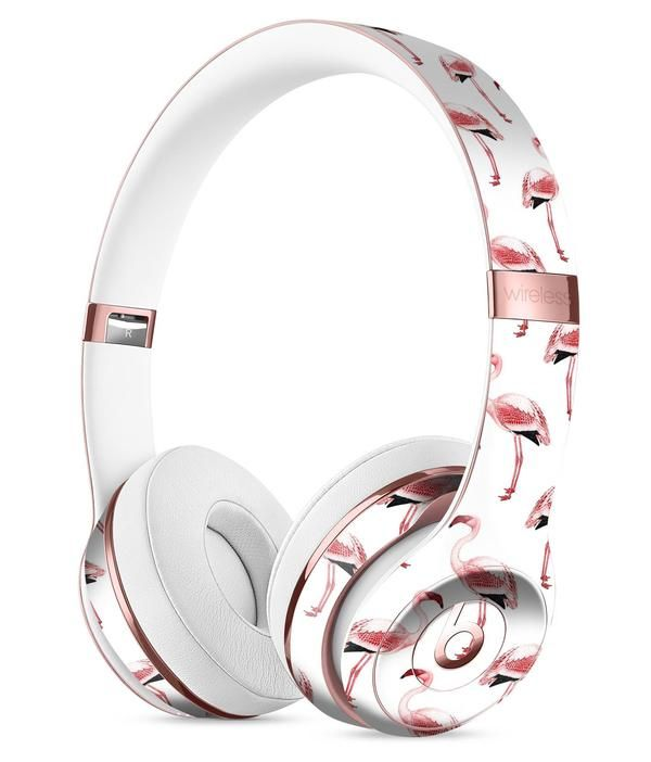 f7def45c29d The All Over Pink Flamingo Pattern Full-Body Skin Kit for the Beats by Dre  Solo 3 Wireless Headphones