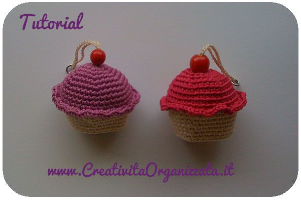 Cupcake A Uncinetto Portachiavi Spiegazioni Eos Obsession