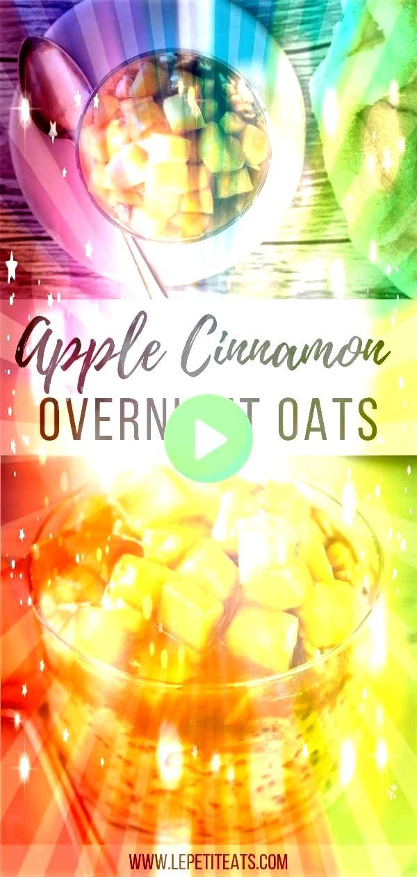 Overnight Oats  Vegan   These healthy proteinpacked morning oats with chia seeds taste just like a slice of apple pie  the perfect easy clean eating meal prep breakfast r...