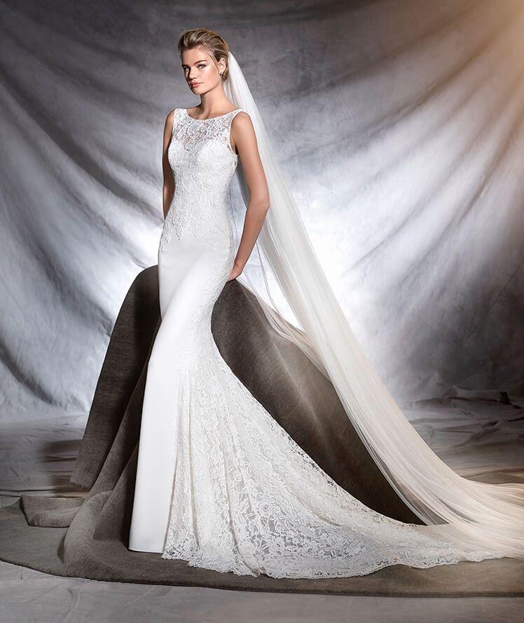 OMAR - Brautkleid im Meerjungfrau-Stil aus Crêpe und Spitze