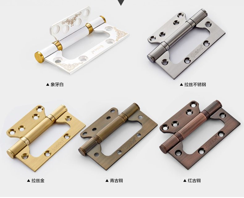 1 Pair Stainless Steel Hinge Bearing Composite Wood Door Hinge Folding Folding Sheet 4 Inch Thick Stainless Steel Hinges Composite Wood Wood Doors