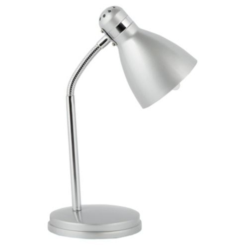 Buy Tesco Lighting Metal Desk Lamp, Silver from our Desk Lamps range at  Tesco direct. - Desk Lamp, Tesco, £7 College Dorm Room Ideas/Decor Pinterest
