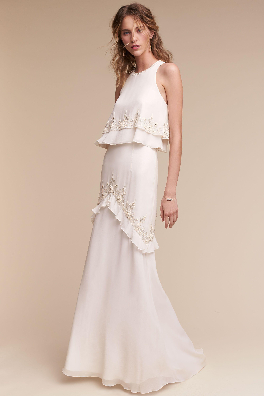 Wedding dress runaway bride  Allegra Gown from BHLDN  Bridal Modest  Pinterest  Bhldn Gowns