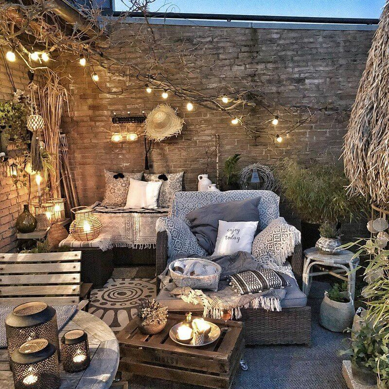 Thi Si The Best Ida For Hoe To Makeover A Backyard For Party Purposes The Place Has Been Nicely Illumina Bohemian Backyard Decor Bohemian Backyard Patio Decor