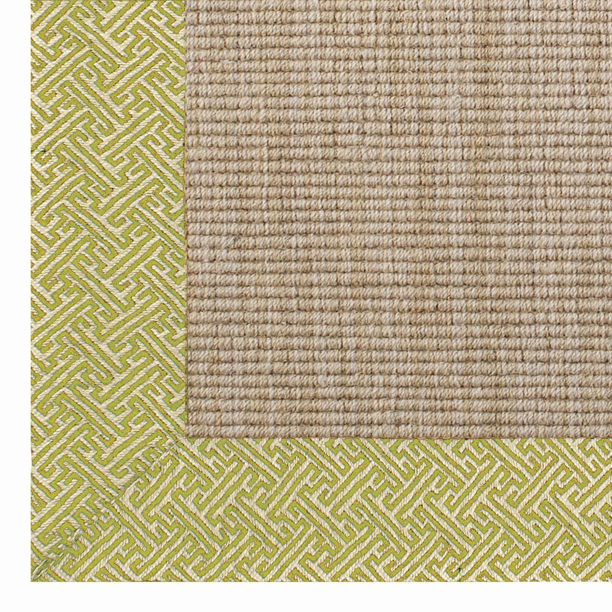 Geometric Border Wool Sisal Rug: 4 Colors