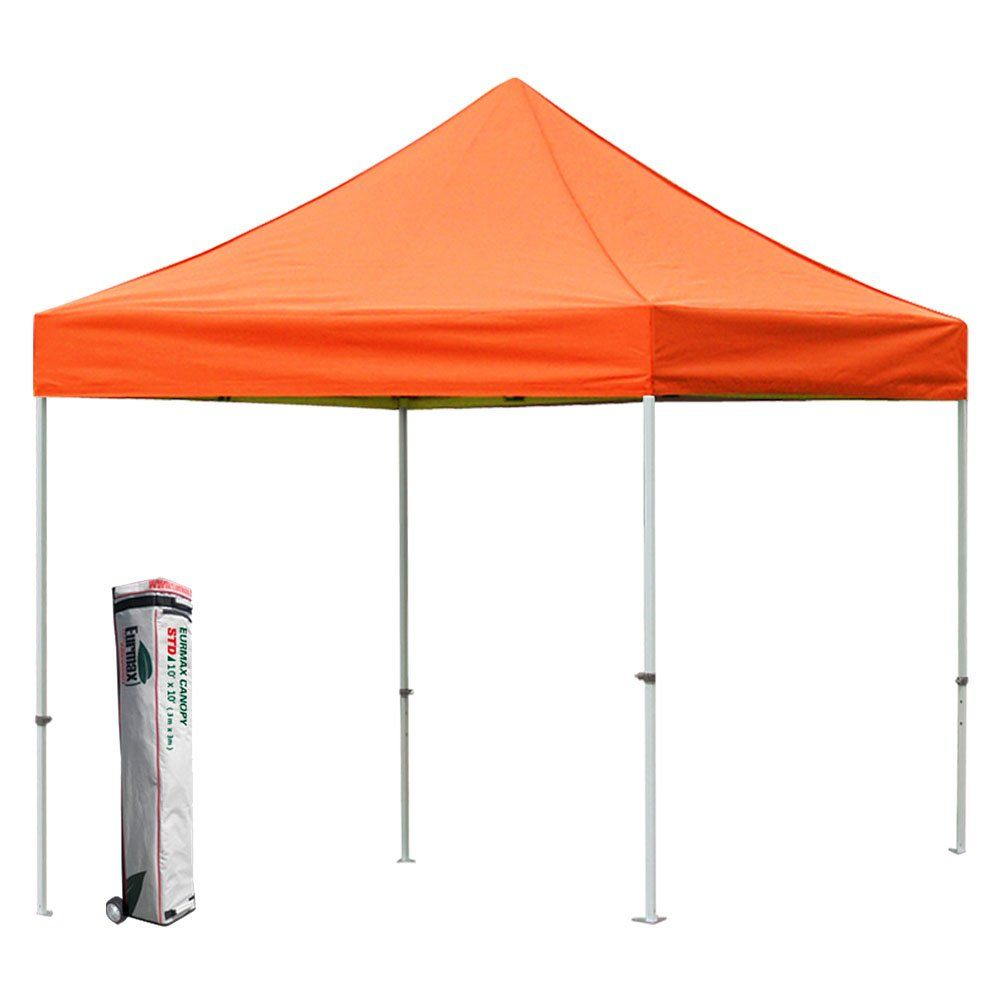 Eurmax STD 10 By 10 Canopy Pop up Party Tent with Wheeld Canopy Carry Bag (Orange)