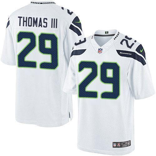 wholesale dealer 27576 f61cb Anthony Barr jersey Nike Seahawks #29 Earl Thomas III White ...