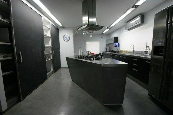 cocinas con isla de estilo minimalista