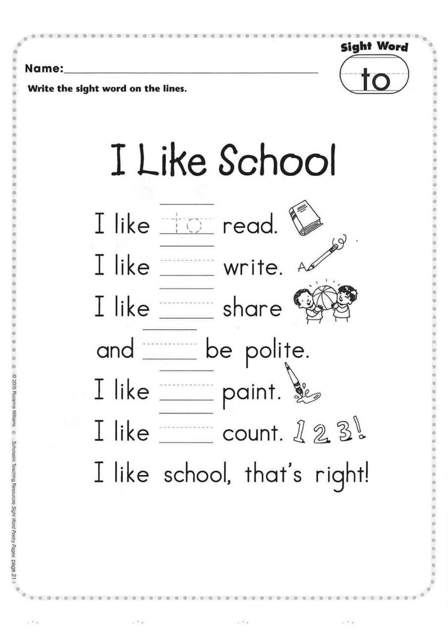 Pin By Mahmud Sakr On Pdf Books Sight Words Sight Words Kindergarten Printables English Poems For Kids [ 1280 x 905 Pixel ]