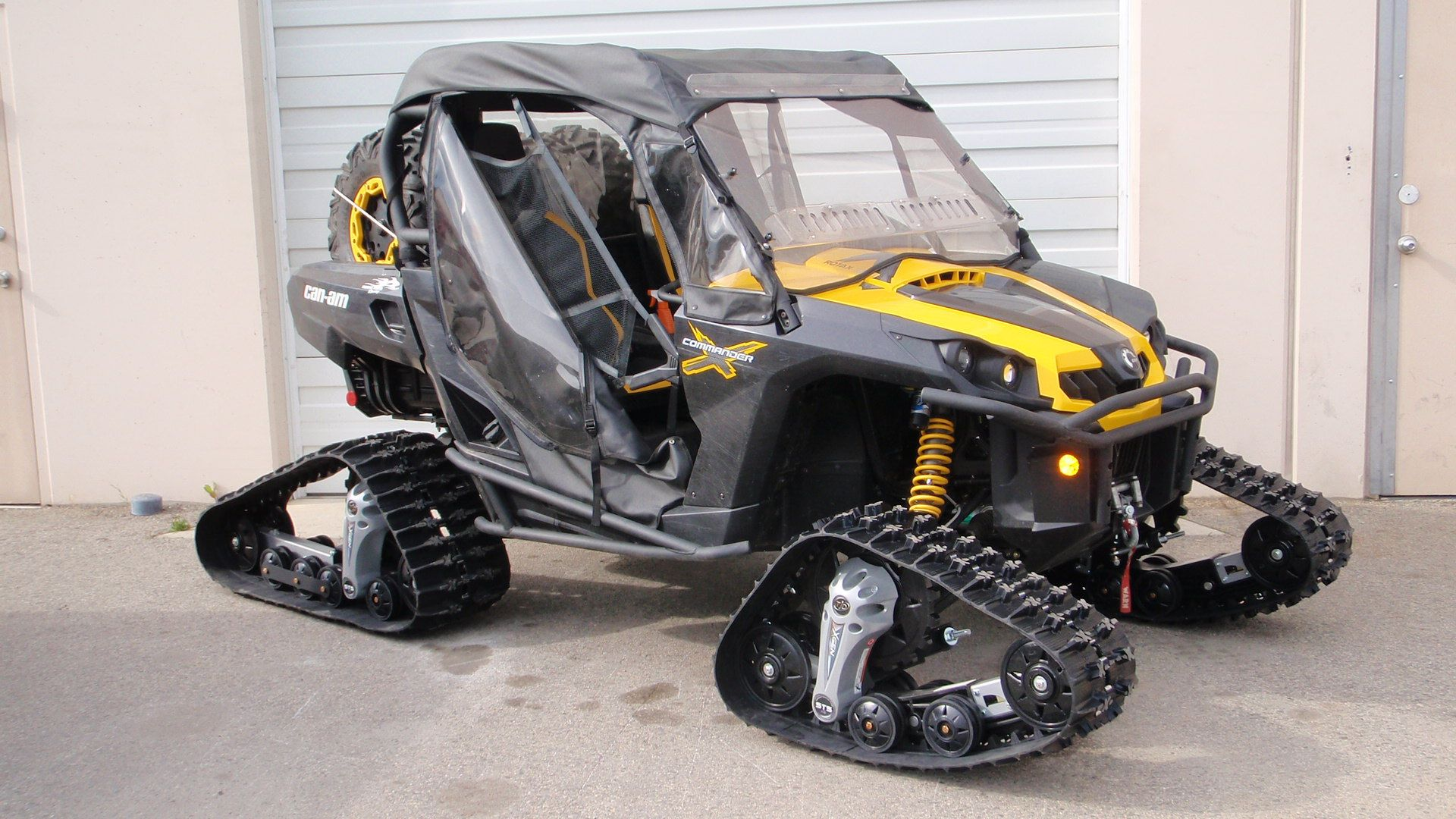 Tjd track kits can am commander with soft enclosure