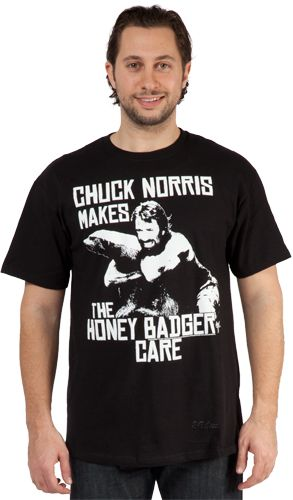 Chuck norris honey badger t shirt