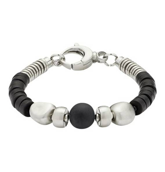 LEONARDO Armband Allenato Gents 015264 Schwarz