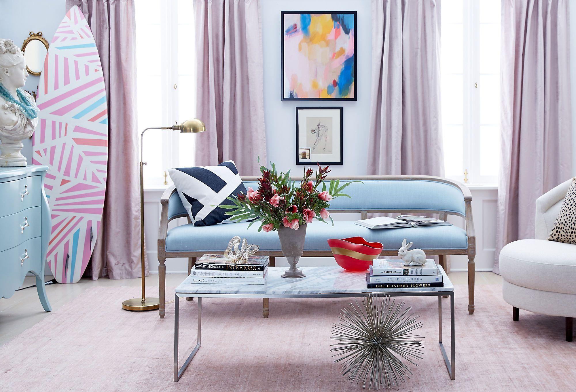 Preppy Chic, Parisian Style: Create A Fun U0026 Feminine Living Room