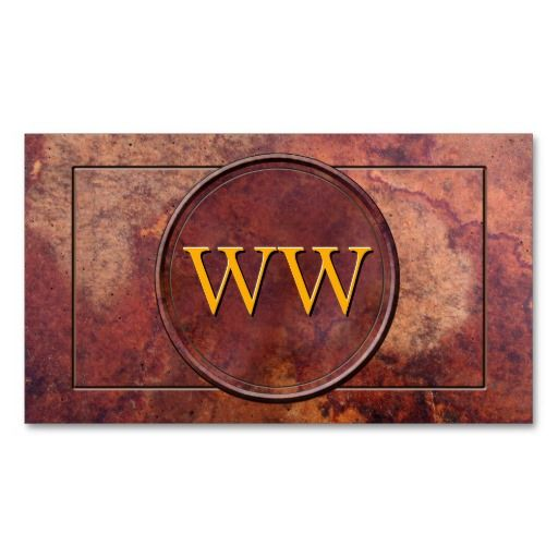 Vintage Leather Professional Monogram Business Card Template from #PatternStore