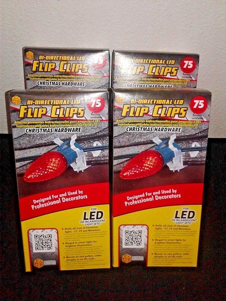 Lot Of 4) 300 Christmas Light Flip Clips C7 C9 & Miniature