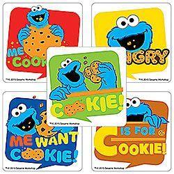 Sticker Pack - Sesame Street Cookie Monster - 75 ct