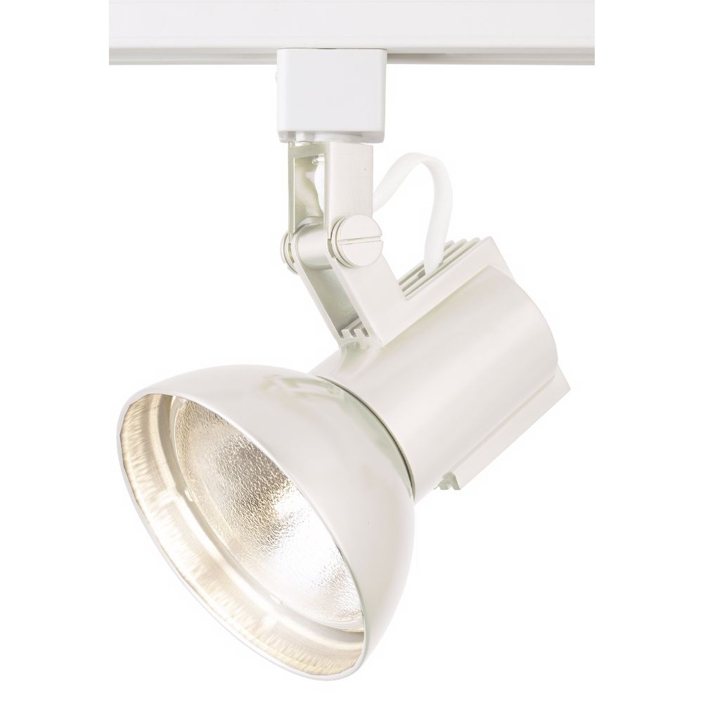 Wac white track light bullet for lightolier track systems style 83487