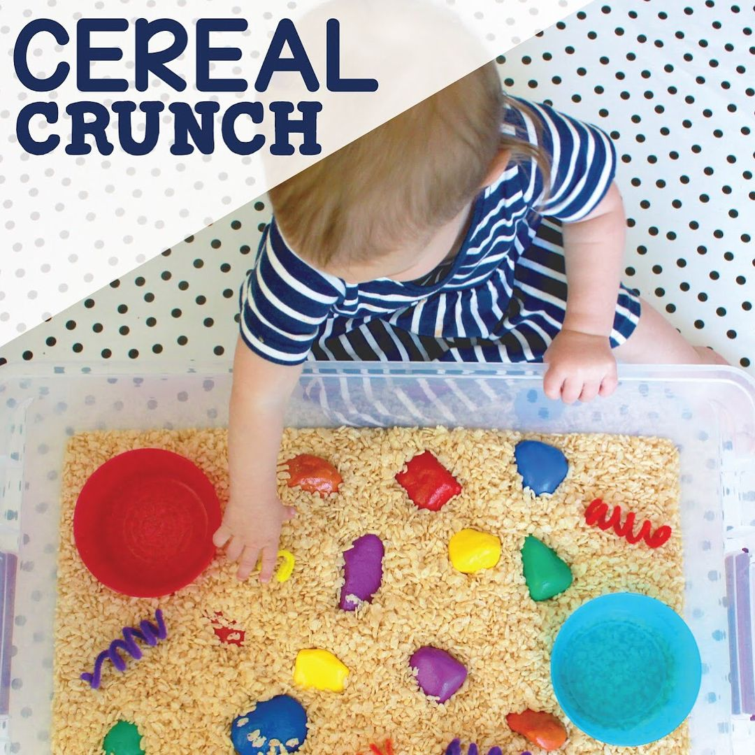Cereal Crunch [All Ages] A Simple Sensory Bin For Babies