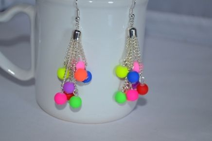 Earrings - Neon Danglers LIVE SAT JUN 1 @ 2 PM EST - JOIN US! https://www.bazaarbid.com/auction_lots.php?cat=1573