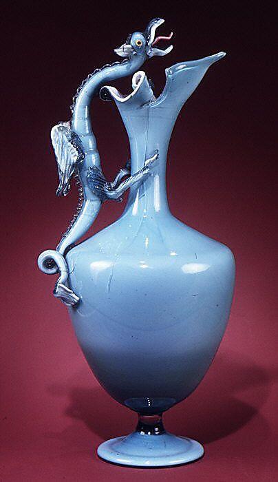 Glass Ewer, 19th century Italian.