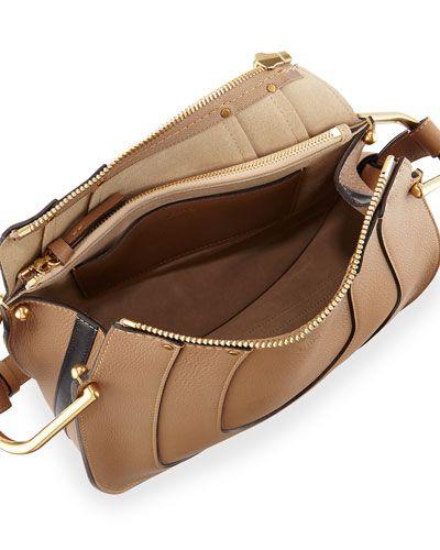 09b11412405 V2M0E Chloe Hayley Small Leather Hobo Bag