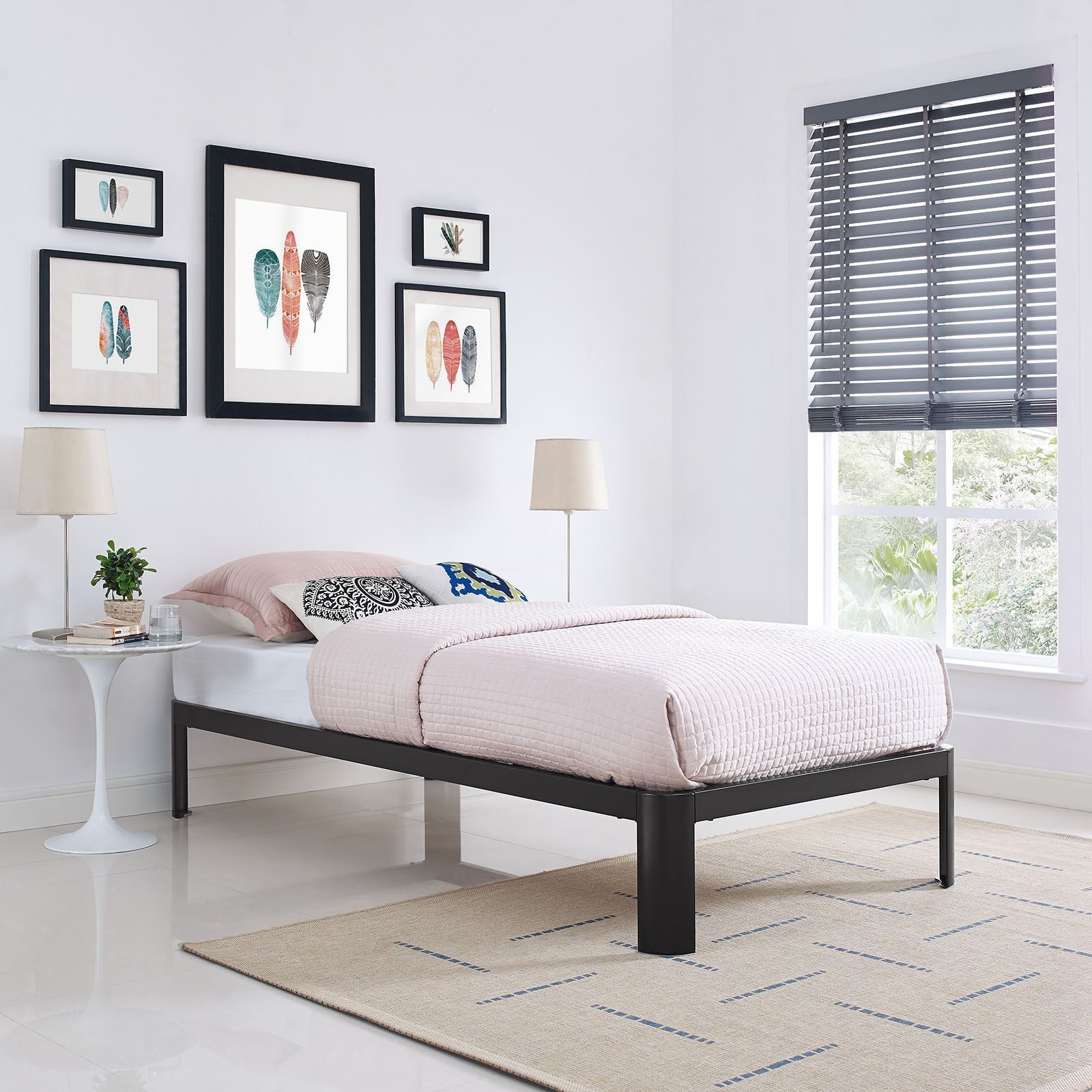 Modway Brown Corinne Bed Frame (Twin)