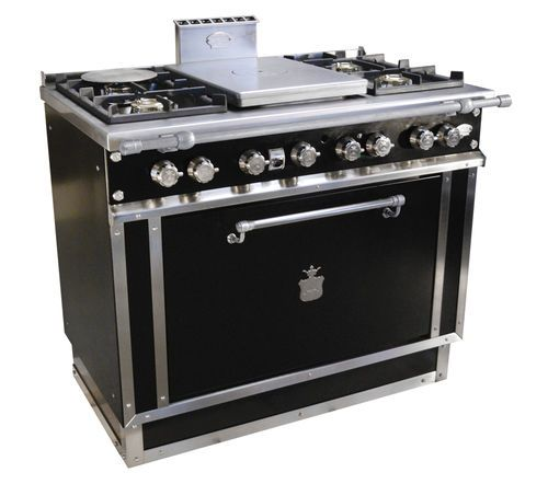 Blocco cucina a gas / in acciaio inox / tradizionale / in ghisa ...