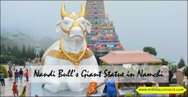 Namchi Town of Sikkim is famous for Giant Statues and Pleasant Weather.Nandi Statue is one such popular tourist attraction here.