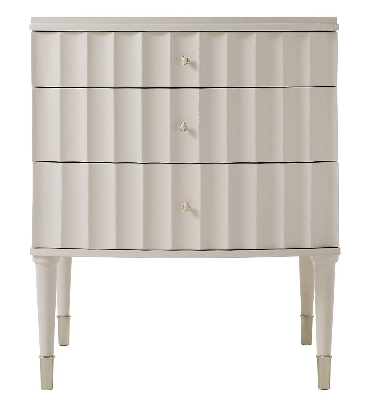 Barbara Barry Cabinet Small Fluted Night Stand Ivory Barbara Barry Realized By