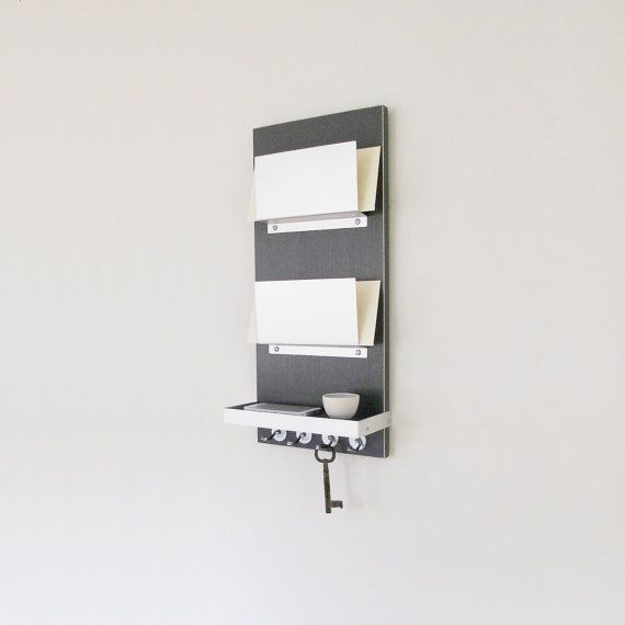 Small Key Wall Decor : Joule gray mail organizer modern wall mount entry