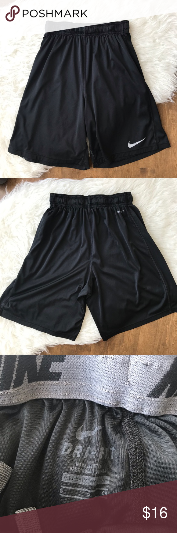 e947fb04450c Nike team fly Dri-fit black shorts long loose fit Basketball shorts from  Nike. Black with drawstring waist. No liner. Lightweight material.