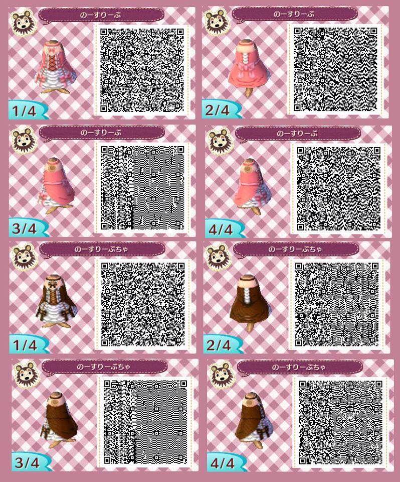 Animal Crossing New Leaf Cute Dress Qr Codes | Zoshwiki.co