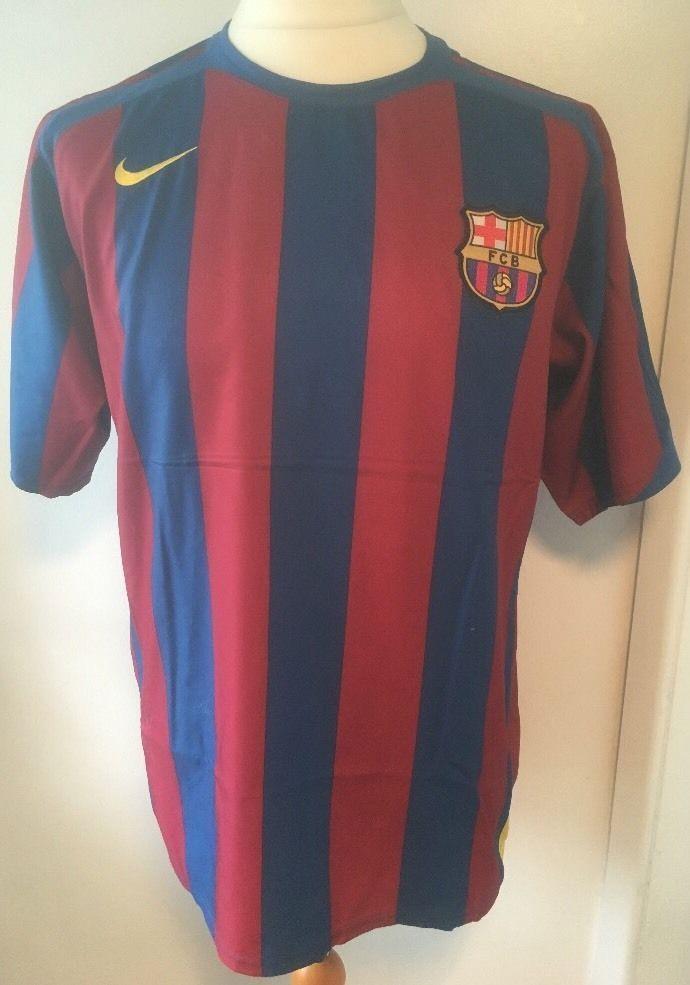 BARCELONA 05 06 Home Football Shirt (M) Soccer Jersey Nike  1f671102f