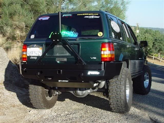 Hanson Front And Rear Bumper Pictures Jeep Zj Jeep Bumpers Jeep Wj