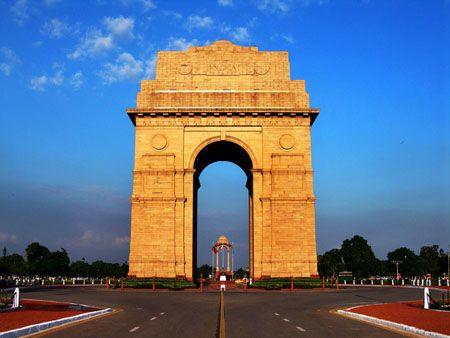 The India Gate Is The National Monument Of India Located In The